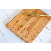 Personalised Engraved Solid Oak Chopping Board