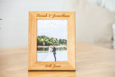 Personalised Oak Photo Frames