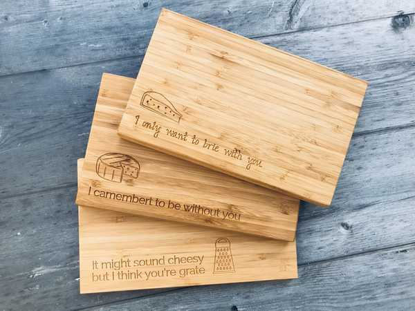 Handwritten Engraving - Mini Bamboo Chopping Boards