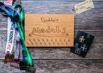 Personalised Medal Display Hanger
