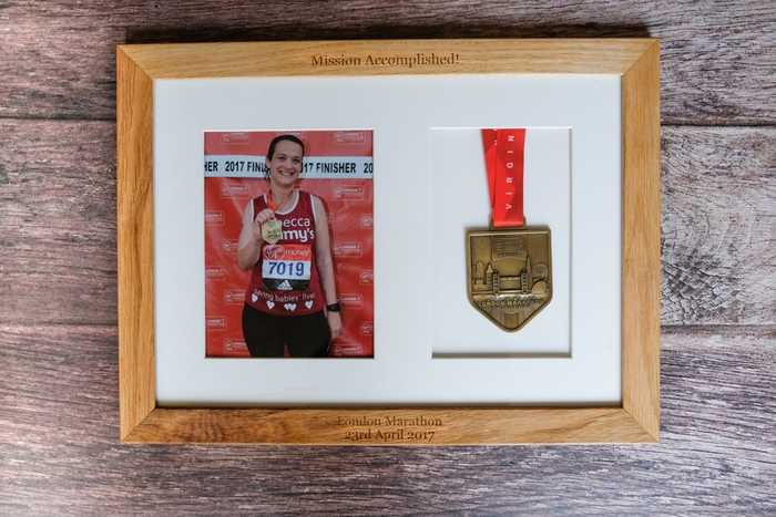 Personalised photo frame for London Marathon runners